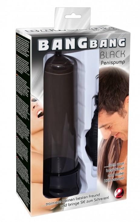 Penispomp Bang Bang - Zwart verpakt