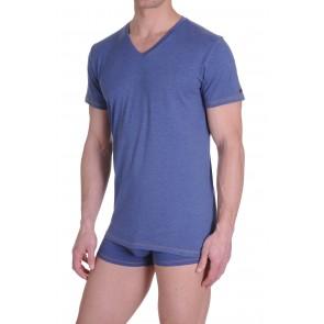 Diesel V-Shirt Michael Jeans Blauw