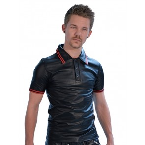 Mister B Poloshirt Red Stripe