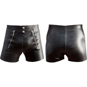 Mister B Rubber Front Flap Shorts