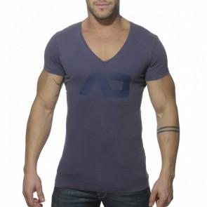 Addicted AD214 Vintage V-Hals T-Shirt Navy Voorkant