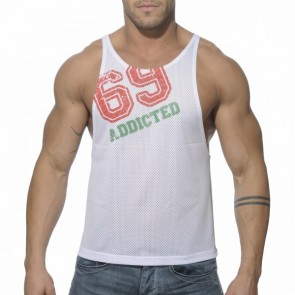 Addicted AD241 Low Rider Tanktop Wit Voorkant