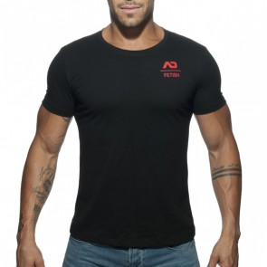 Addicted U-Neck Fetish T-Shirt - Zwart