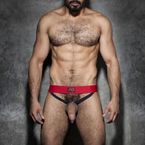 Addicted Fetish ADF57 Cockring Double Jock Red