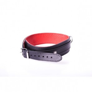 Halsband Basic Rood - Kiotos Leather