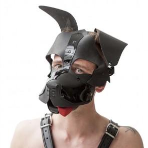 Mister B - Shaggy honden masker zwart